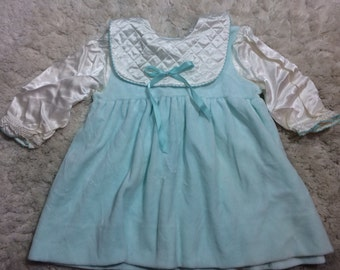 Baby Girls Light Blue and White Holiday Dress Christmas Winter Babies Toddler