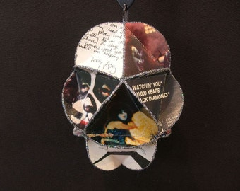 KISS Band Album Cover Ornament Made From Record Jackets - Gene Simmons