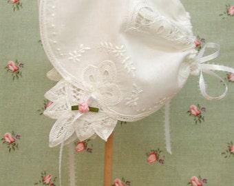 Wedding Handkerchief Baby Bonnet, Baby Bonnet Handkerchief