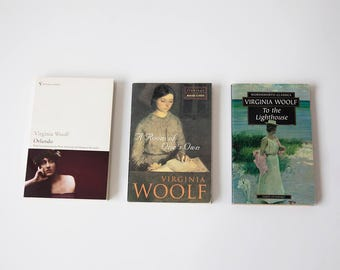 3 Virginia Woolf Books - To the Lighthouse, Orlando, A Room of One's Own