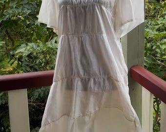 silk kimino dress - arty - alternative - bohemian - m / l