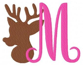 Deer // Reindeer // 5x7 Embroidery Monogram Embroidery Design Set, Machine Embroidery Designs, Embroidery Font // Joyful Stitches