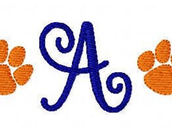 Paw Print // Tiger // Mini Monogram Embroidery Font Design Set, Machine Embroidery Designs, Embroidery Font // Joyful Stitches