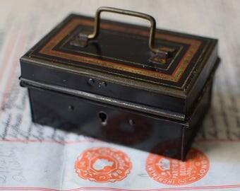 Vintage Metal Cash Box Miniature