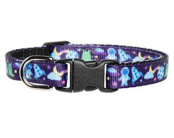 "Cat Collar - ""The Spaced Out"" - Space Print"
