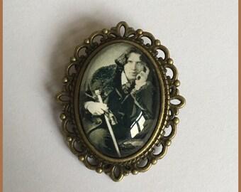 Oscar Wilde Inspired Bronze Cameo Brooch