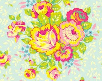 Heather Bailey Pop Garden Rose Bouquet ice Free Spirit fabric BTY yardage