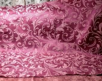 Vintage Fabric Rose Ivory Damask Remnant