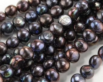 10mm Midnight Purple Baroque Big-Hole Pearl (BH40)