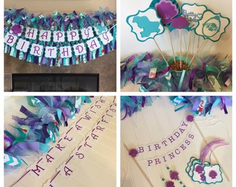 Ariel Birthday Party - Little Mermaid Birthday - Ariel Banner - Little Mermaid Party - Little Mermaid - Ariel Birthday Package