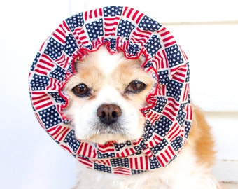 American Flags, Cotton Long Ear Coverup, Cavalier King Charles or Cocker Snood