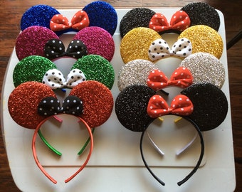 Mickey Mouse ears, Minnie Mouse Ear Headband - kids adults