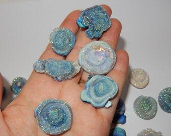 Rainbow Druzy quartz chalcedony rose