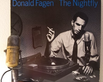 """ON SALE Donald Fagen (Steely Dan) Vinyl Record Album LP 1980s R&B Jazz Yacht Pop Groove Mtv Vh1 Classic """"The Nightfly"""" (1982 Wb w/""""New Front"""