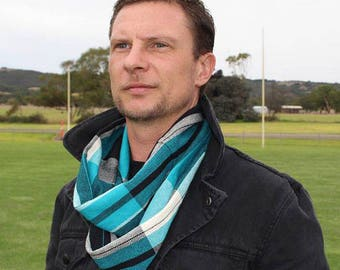MADE TO ORDER – Handwoven Cotton Loop Football Scarf – Port Power