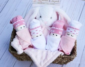 Baby girl gift basket / Baby shower gift / Baby diaper gift basket / Baby essentials / Diaper gifts for girls / Personalized baby gift girl