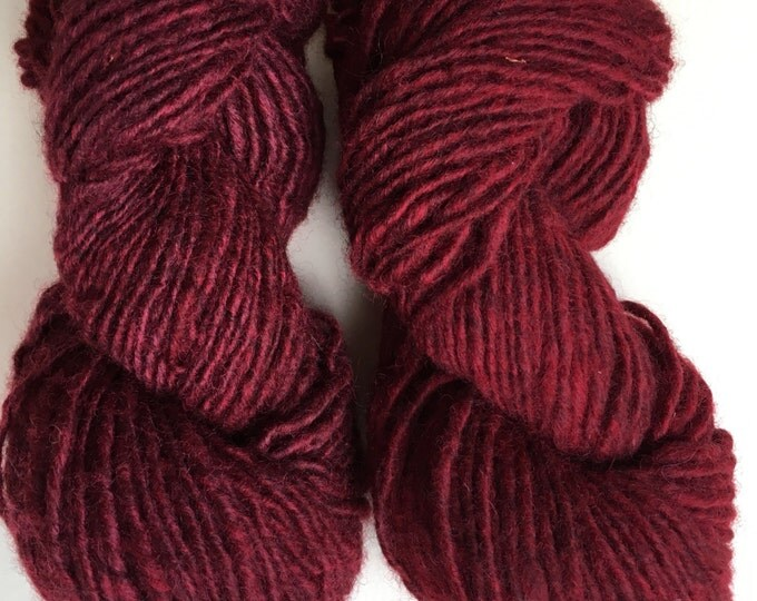 Ruby Red Heather Maine Wool Lopi