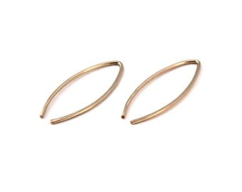 Gala, 14KT Gold Filled or Sterling Silver Small Wishbone Earrings