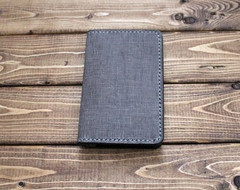 """UNIQUE Grey Leather Cover for Moleskine Extra Small Notebook  (2.5"""" X 4"""" )"""