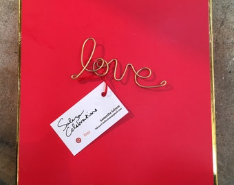 LOVE - Wire Ornament