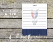 Guest Book Page for Eagle Scout Court of Honor - 8 1/2 x 11-Digital File