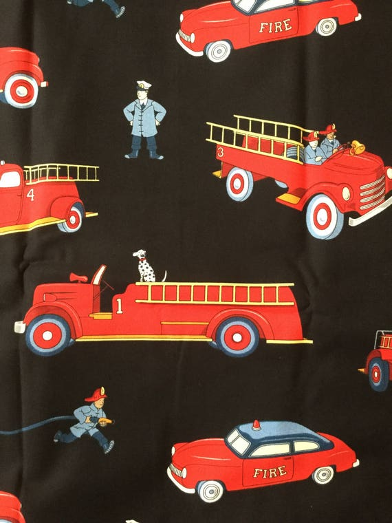 Vintage Fire Truck By Michael Miller Fabrics Oop Fat