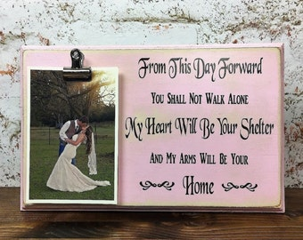 Personalized Wedding Picture Frame, Wedding frame, 4x6 Frame, Brides Gift, Grooms Gift, Wedding gift, Valentines Day Gift, Clip Frame