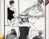 Vintage Sleek Fitting Swimsuits Sewing Pattern - Stretch & Sew 1361 - Bust Sizes 30, 32, 34, 36, 38, 40, 42, 44, 46 - UNCUT