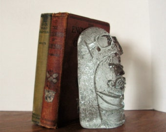 Ice Man Bookend, glass sculpture, vintage flight