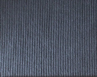 Navy Blue Ribbed Sweater Knit Fabric, 1 Yard