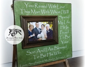In Law Gifts, Parents of the Groom Gift, Mother of the Groom, Father of the Groom, Parents Thank You Gift, Wedding, Picture Frame 16x16
