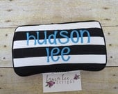 Black and White Stripes, Travel Baby Wipe Case, Personalized, Diaper Wipes Case, Baby Shower Gift, Wipe Holder, Diaper Bag Wipe Clutch