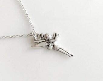Fairy Necklace Silver Boho Simple Minimalist Necklace Bridesmaid Wedding 4232