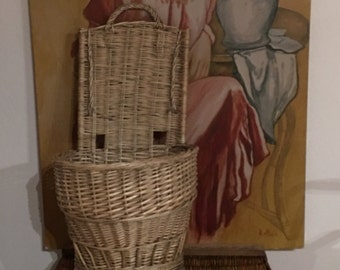 Large Vintage French Country Basket