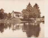 Vintage Photo - The Old House by the Lake - Vintage Photograph, Vernacular, Found Photo (A)