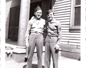 Vintage Photo - Two Soldiers - Vernacular, Found Photo (A)