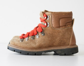 Vintage 1980s Suede Hiking Boots - Danner Style