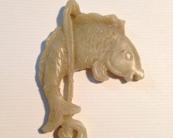 Highly Detailed Carved Fish Pendant, 1980s