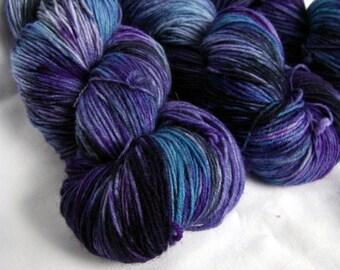 Superwash Wool and Nylon Fingering - Super Tough Sock Yarn - Achilles Sock - Blueberry Smash