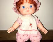 1982 American Greetings Kenner Strawberry Shortcake baby doll that blows strawberry kisses