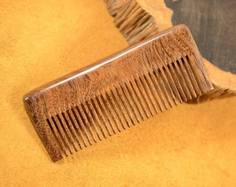 Medium Fine Teeth Zebrawood Hair Care Comb Natural Anti Static