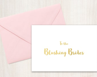 Printable Card for Brides, Wedding Card Printable, Instant Download, Wedding Day Cards, to the brides, lesbian wedding cards