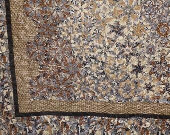 Kaleidoscoped Hexagons **Asian Print throw quilt