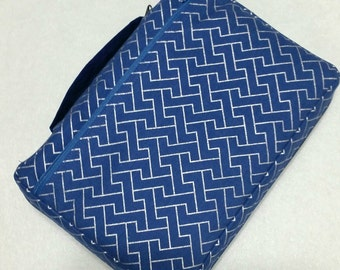 Bible Cover Blue and Silver
