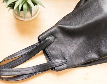 FOKS FORM Bi Bag 02, Minimal leather tote bag, handbag, backpack, hobo bag
