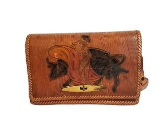 Tooled Leather Matador Bullfighter Purse