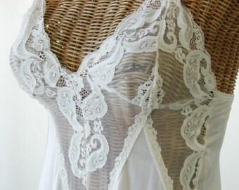Flair by Dianne Keesee Sheer Ivory Nightgown Unworn Small