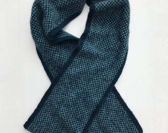 HERITAGE: Hand Knit Wide Distressed Wool Scarf