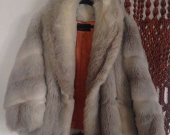 Womens Large Faux Fur Coat L-XL