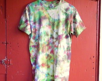 Neon Fireworks Tie Dye Hippie Boho Festival Seapunk Vaporwave Tshirt M